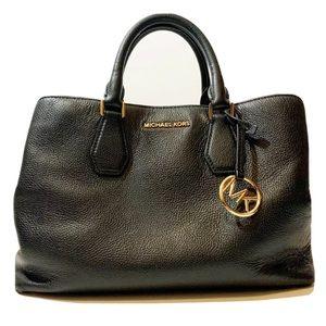 Michael Kors Sutton Leather Med Satchel Handbag